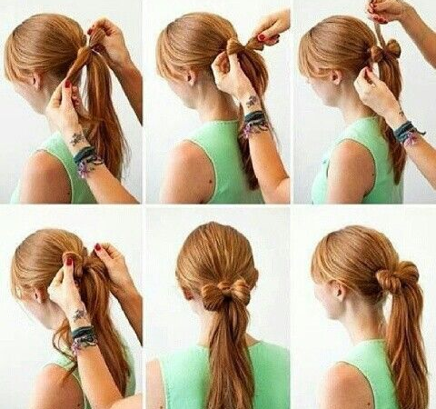 Peinado easy learning with a bow for long hair
