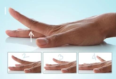 Raising fingers exercises