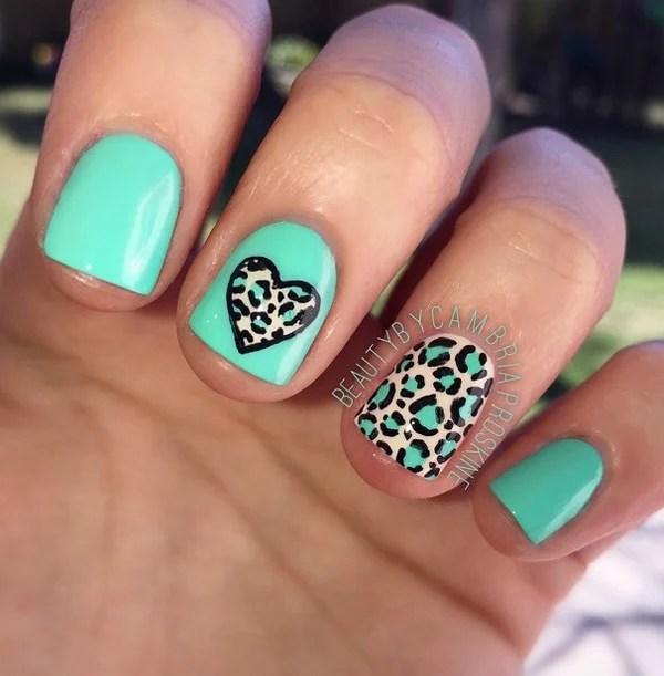Girly Nail Art: 60 Stylish Leopard And Cheetah Nail Designs That You Will