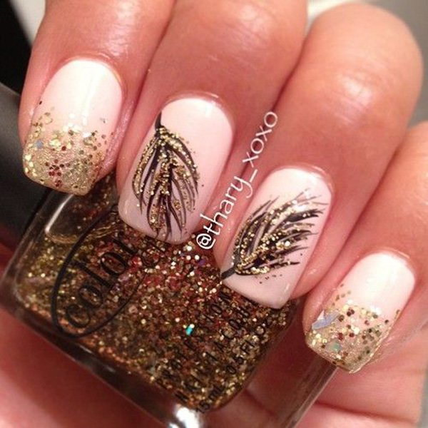 Ringology Nail Art Gold Leaf Glitter View Images