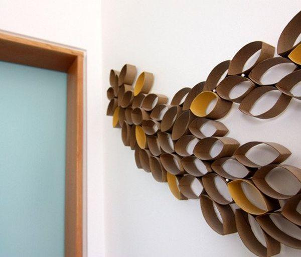 Custom toilet paper wall art