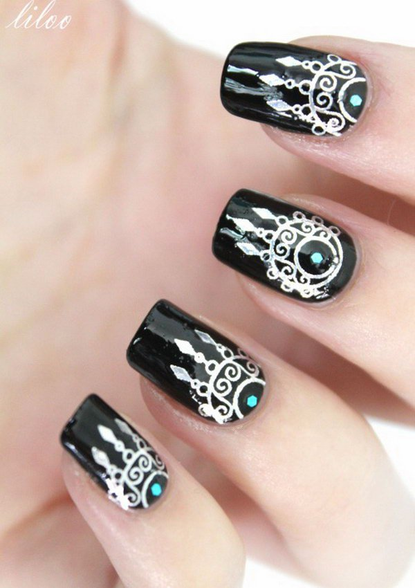 40 Inspirational Nail Art Inspired By Native American Designs 187 Ecstasycoffee