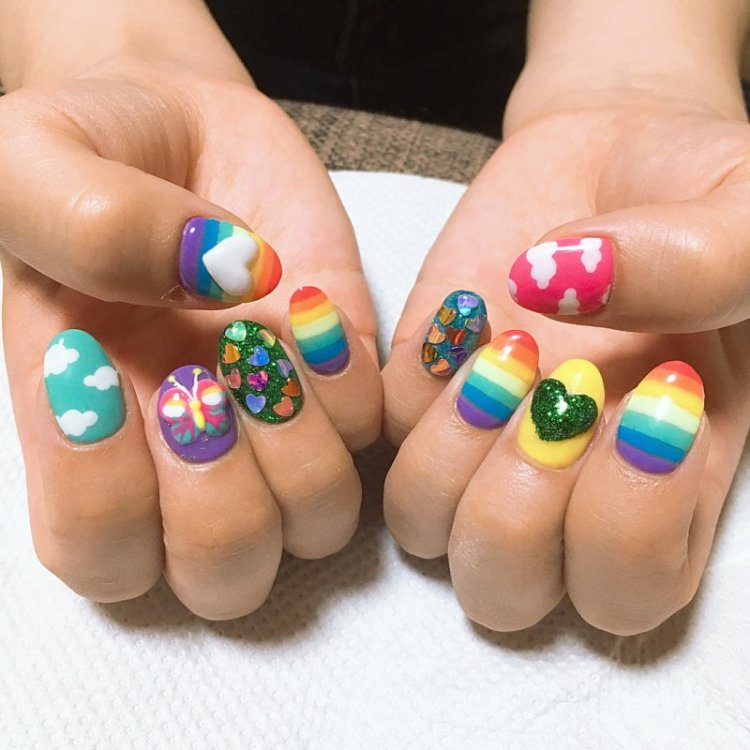 50 Cool Colorful Rainbow Nail Designs You Wont Miss Ecstasycoffee