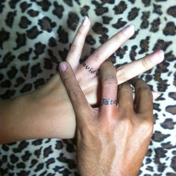 Celtic wedding ring tattoo for Interlocking wedding rings tattoo