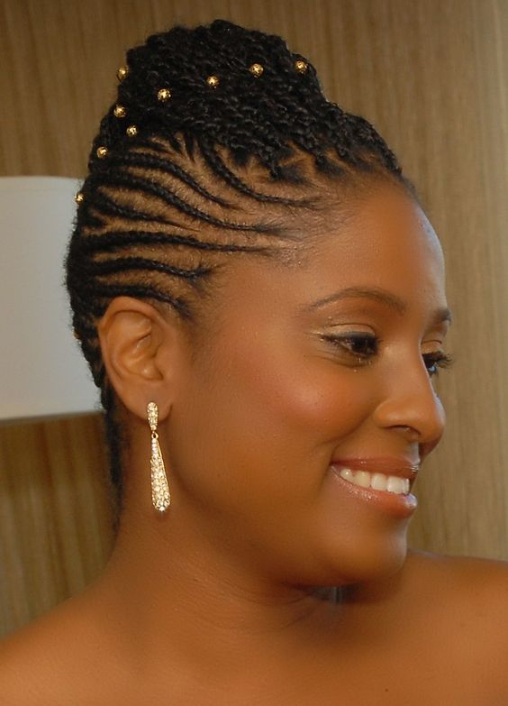 hair cornrows styles 40 and creative cornrow hairstyles you can try 7015 | updo cornrow style for wedding