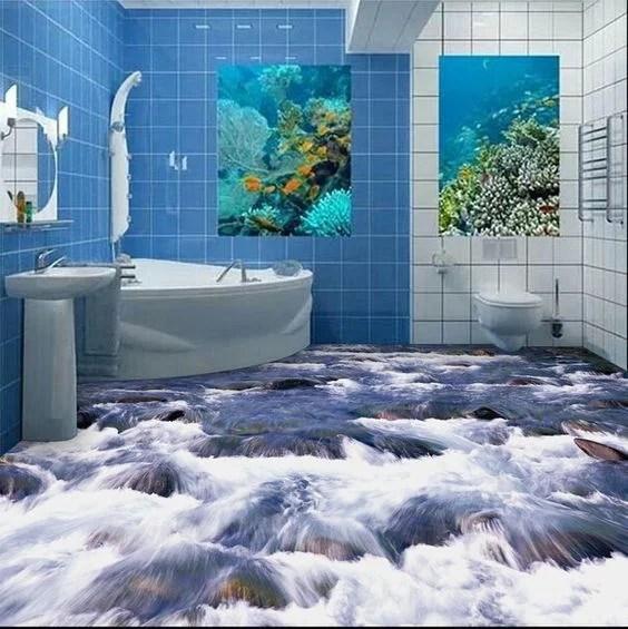 23 3D Bathroom Floors Design Ideas That Will Change Your ...