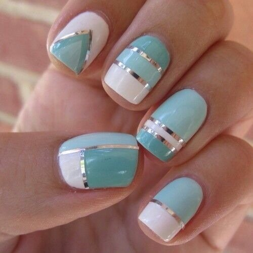 40 amazing classic nail art designs ecstasycoffee blue patterned nail design prinsesfo Gallery