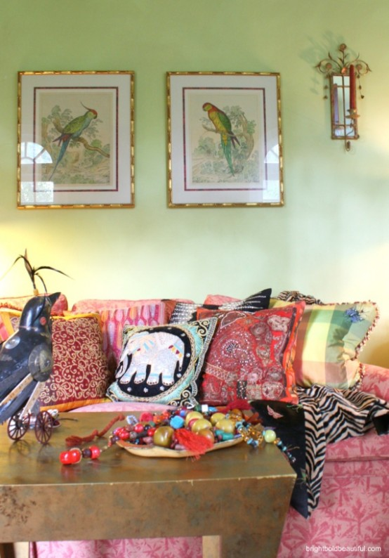 40 beautiful pictures of bohemian style to decorate your - Pictures of living room designs ...