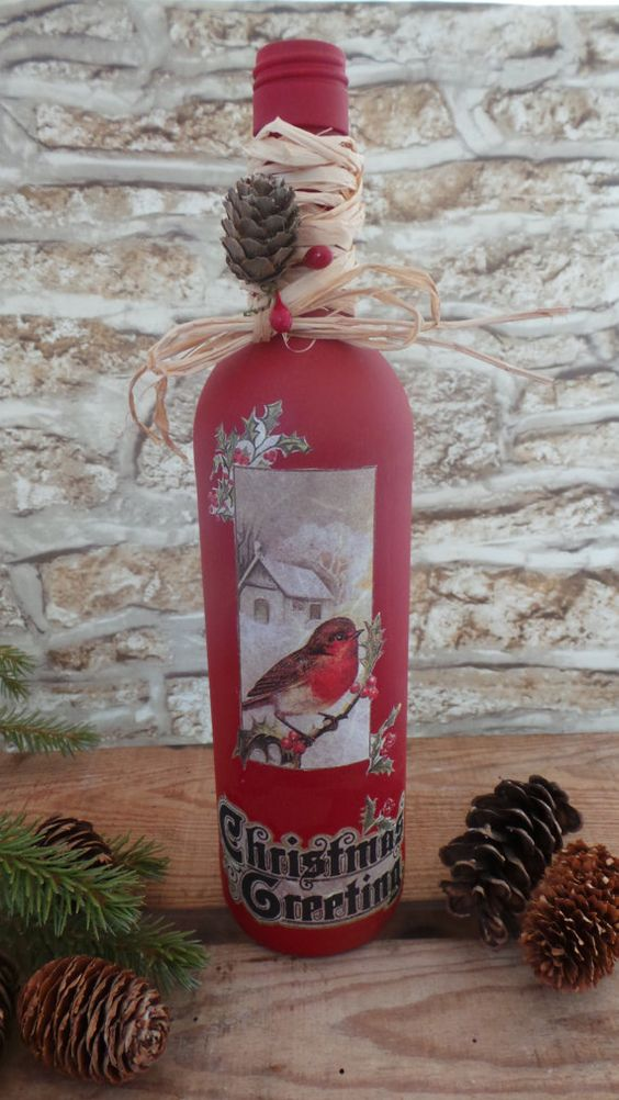 christmas-decorated-wine-bottle
