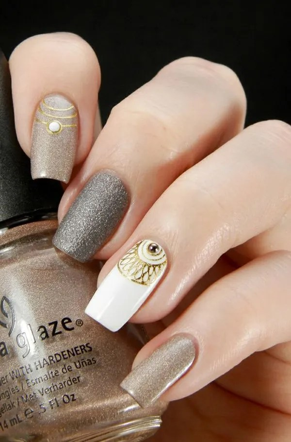 classic-nail-art-designs-19 - 40 Amazing Classic Nail Art Designs - EcstasyCoffee