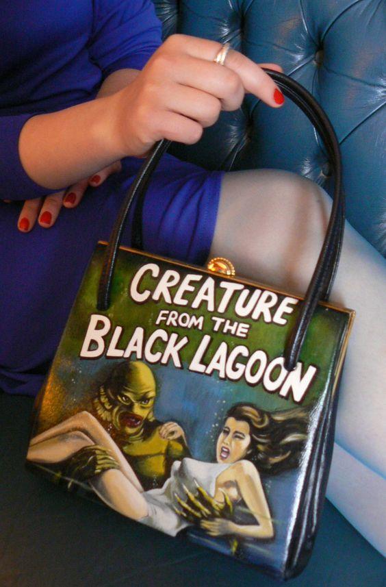 creature-from-the-black-lagoon-hand-painted-vintage-handbag