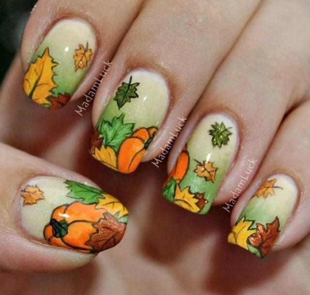 beautiful thanksgiving nail