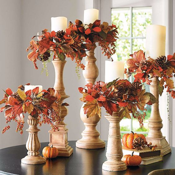 40 Nature Inspired Fall Decorating Ideas And Easy Diy Decor: 30 Amazing Candle Holder Ideas For A Scary Halloween