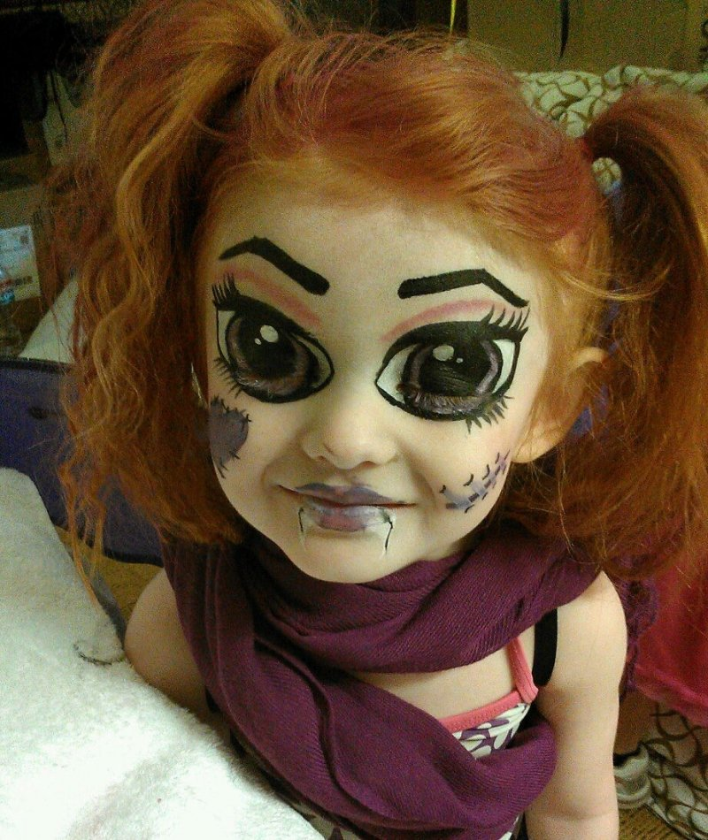 30 Scary And Unique Kids\u0027 Halloween Makeup Ideas » EcstasyCoffee