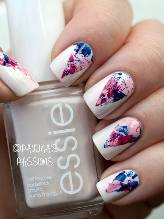40 Awesome Water Marble Nail Art Designs Youll Want To Try This