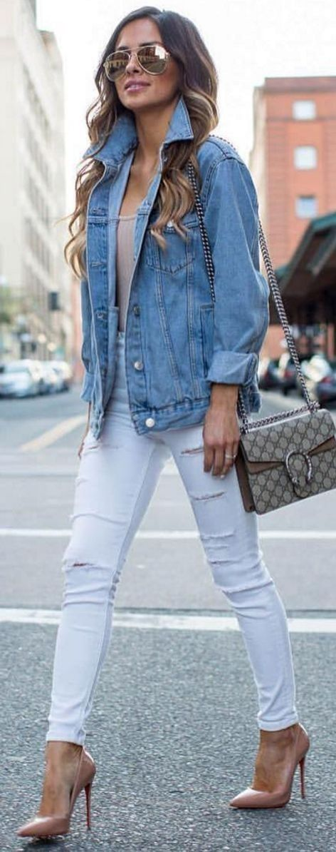 Outfit Jean Ideas Jacket White