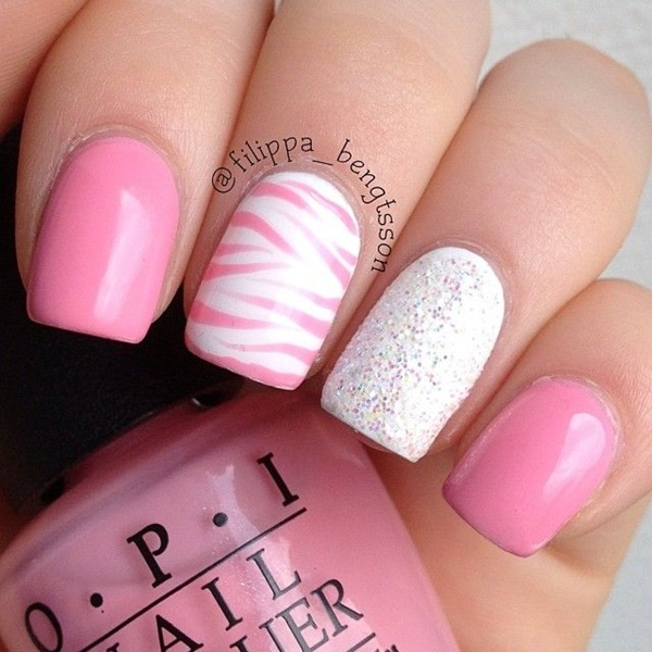 pink-and-white-nails-designs-23 ... - 50 Most Beautiful Pink And White Nails Designs Ideas You Wish To Try
