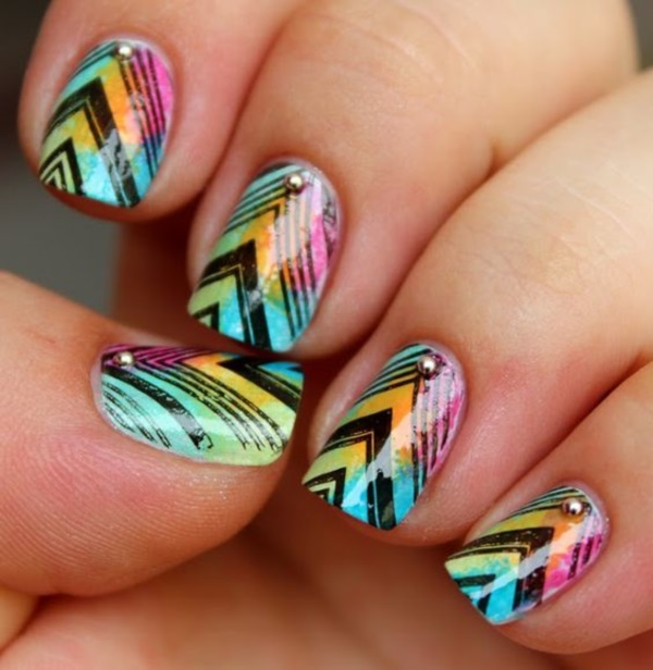 40 Best Shellac Nail Art Design Ideas Ecstasycoffee: 45 Stylish Aztec Nail Art Designs You Will Love To Copy