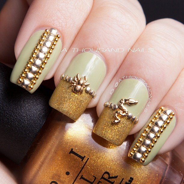 30 amazing rhinestone nail art designs ecstasycoffee rhinestone nail art designs 13 prinsesfo Gallery