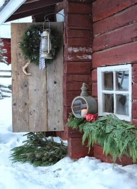 rustic outdoor christmas decor ideas 13 - Rustic Outdoor Christmas Decorations