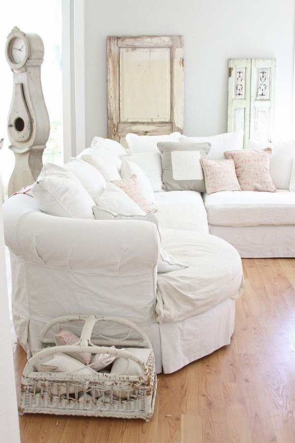 50 Cool Shabby Chic Living Room Decor Ideas » EcstasyCoffee