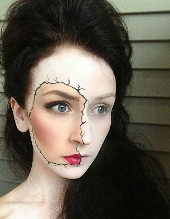 50+ Scary And Unique Halloween Makeup Ideas That Are Actually Easy ...