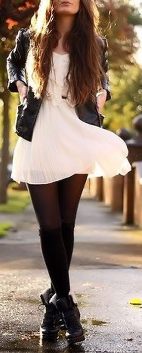 50 Stylish Stockings Outfits For Your Fall Outfit