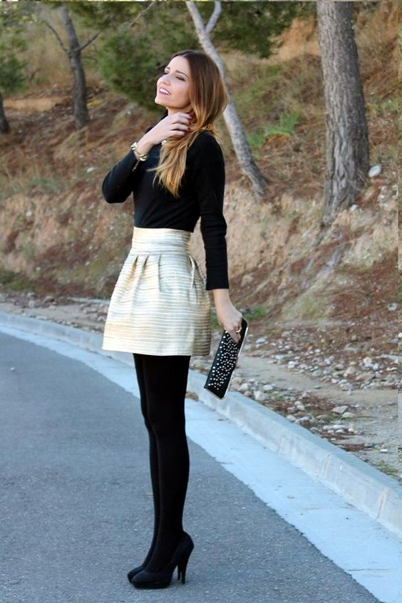 89017876bb6 50 Stylish Stockings Outfits For Your Fall Outfit Inspiration ...