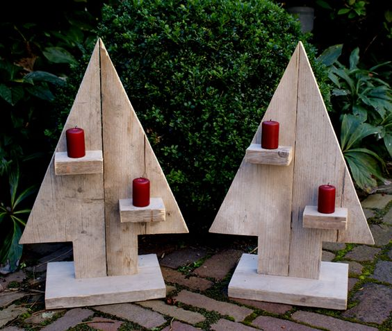 Christmas Tree From Wood: 40+ Top Modern Wooden Christmas Trees For Backyard
