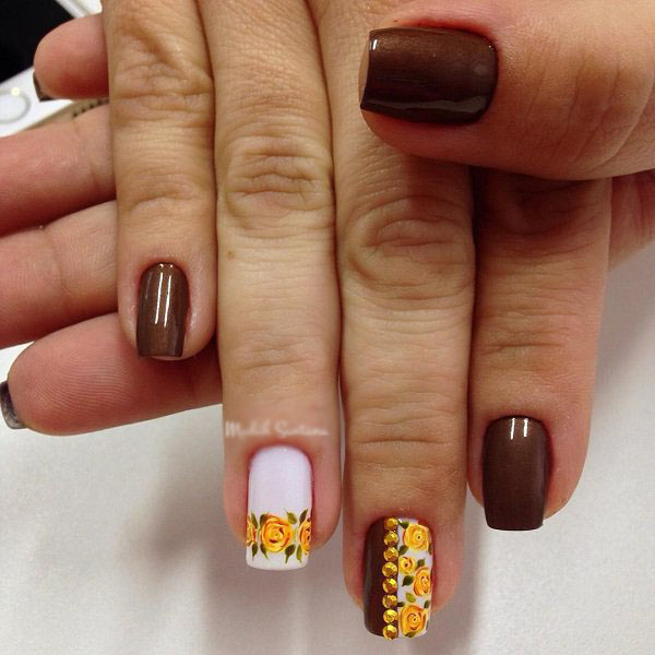 40 Beautiful Thanksgiving Nail Art Designs For Fall Season