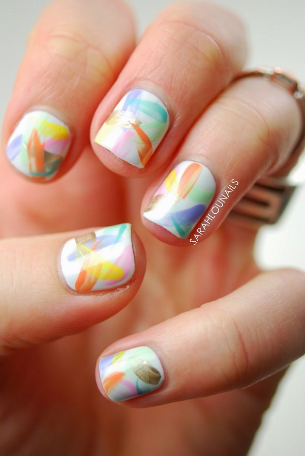 34 Unbelievably Watercolor Nail Art Ideas 187 Ecstasycoffee