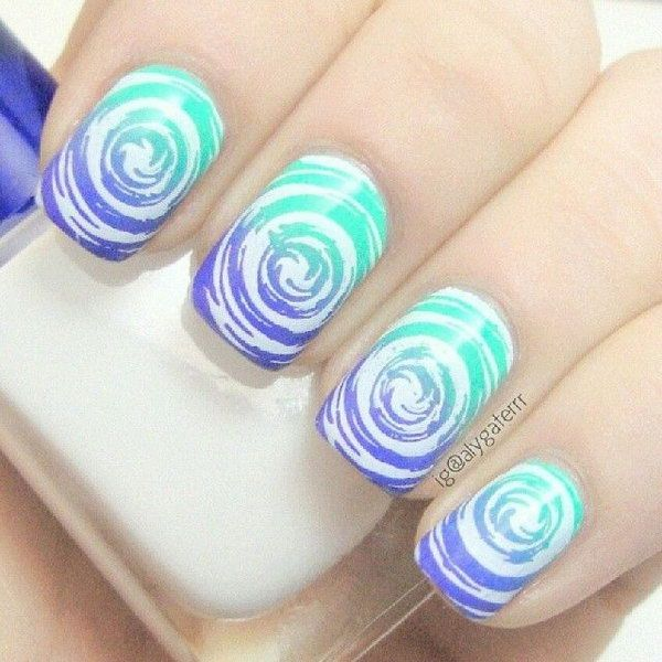 40 Awesome Water Marble Nail Art Designs You\'ll Want To Try This ...