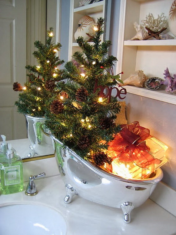 How To Decorate A Small Bathroom For Christmas: 45 Amazing Bathroom Decorating Ideas For Christmas
