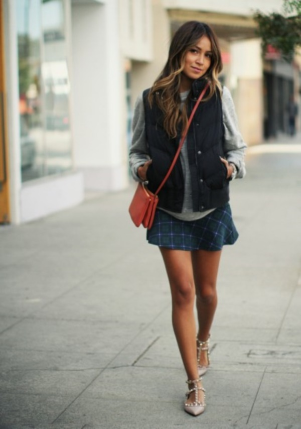 34 cute and cozy puffy vest outfit ideas for this fall ecstasycoffee