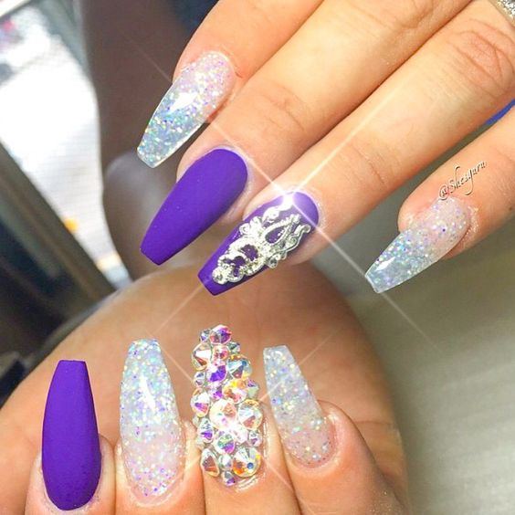 80 awesome glitter nail art designs youll love ecstasycoffee glitter nail designs ideas2 prinsesfo Choice Image