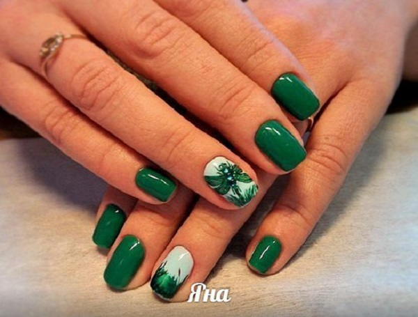 50 Beautiful And Unique Green Nail Art Designs Ideas 187 Ecstasycoffee