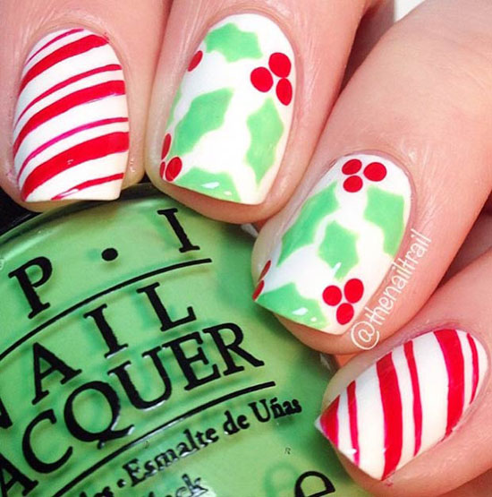 holly-and-candy-cane-nails