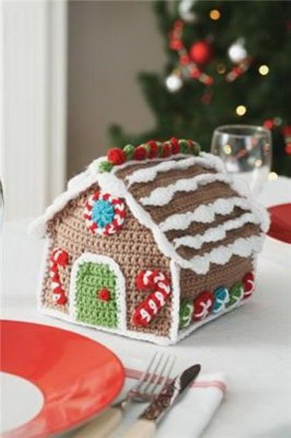 54 Creative Knitted Christmas Decorations Ideas