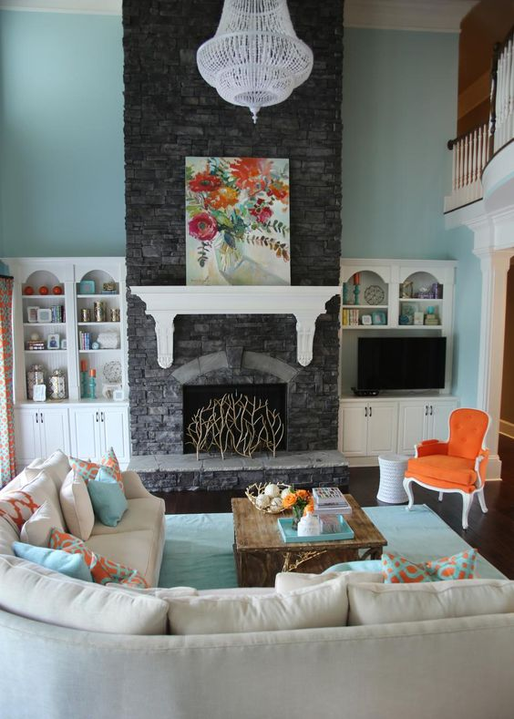 orange-and-aqua-blue-coastal-living-room