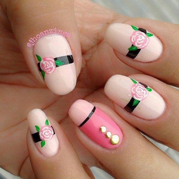 Pretty Nail Art: 60 Beautiful Pink Nail Art Designs Ideas » EcstasyCoffee