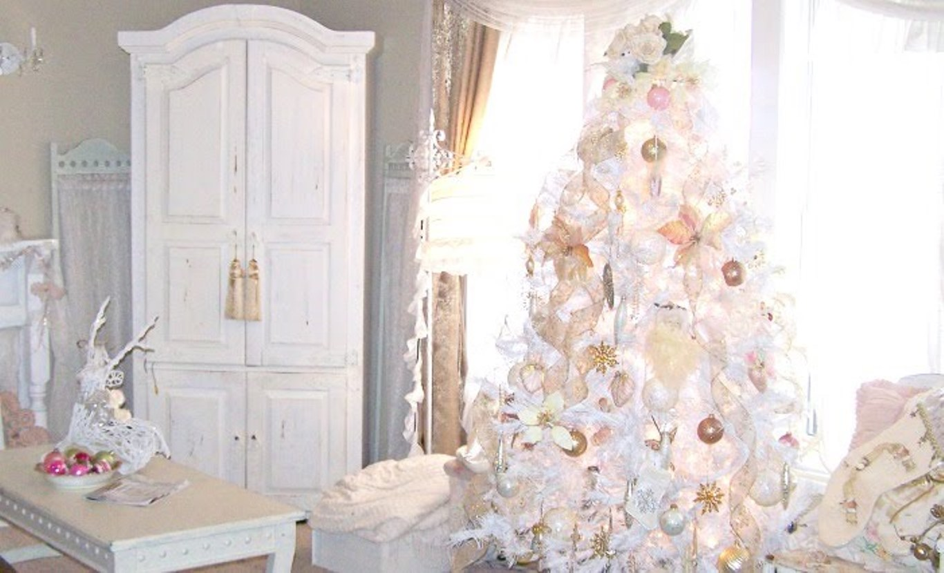 30 creative white christmas tree decorating ideas - White Christmas Tree Decoration Ideas