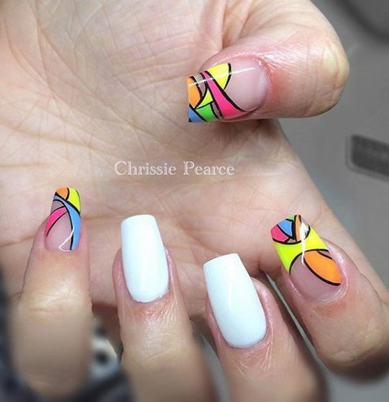 66 Unbelievably Cool Abstract Nail Art Ideas Ecstasycoffee