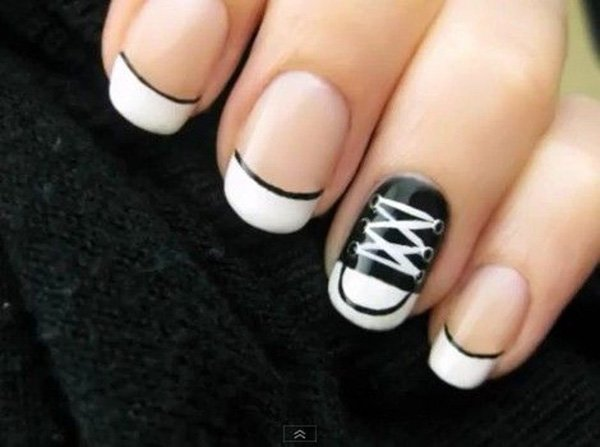 50 Beautiful Black And White Nail Designs Ecstasycoffee