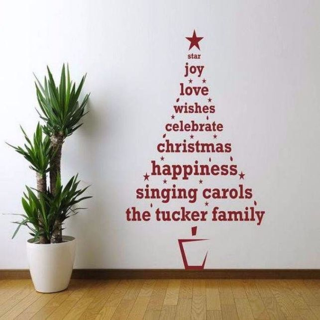 Wall Christmas Trees Ideas.33 Cool Wall Christmas Tree Ideas For Your Home
