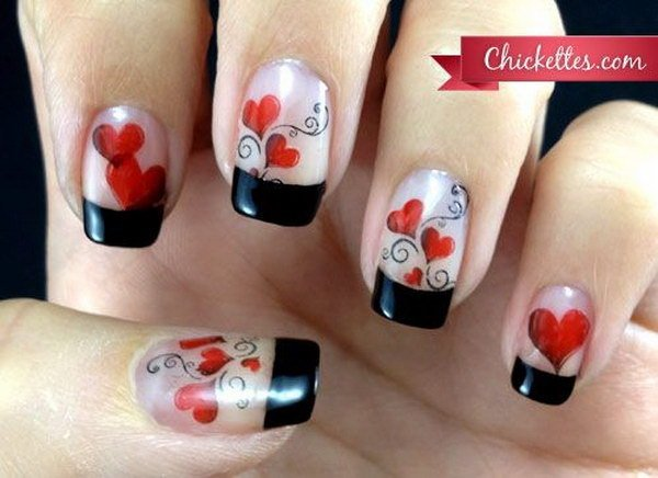 40+ Romantic And Lovely Heart Nail Art Designs Ideas For ...