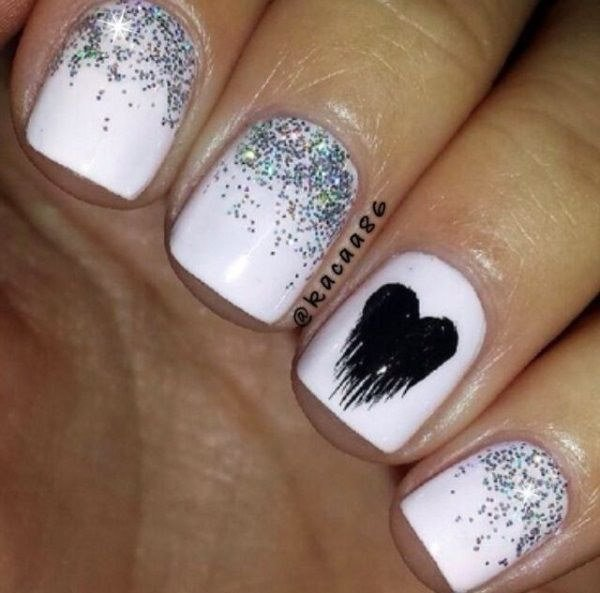 40+ Romantic And Lovely Heart Nail Art Designs Ideas For