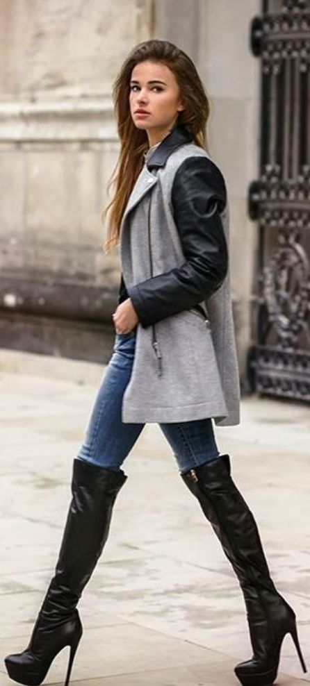 44 Stylish Ways To Wear Knee High Boots 187 Ecstasycoffee
