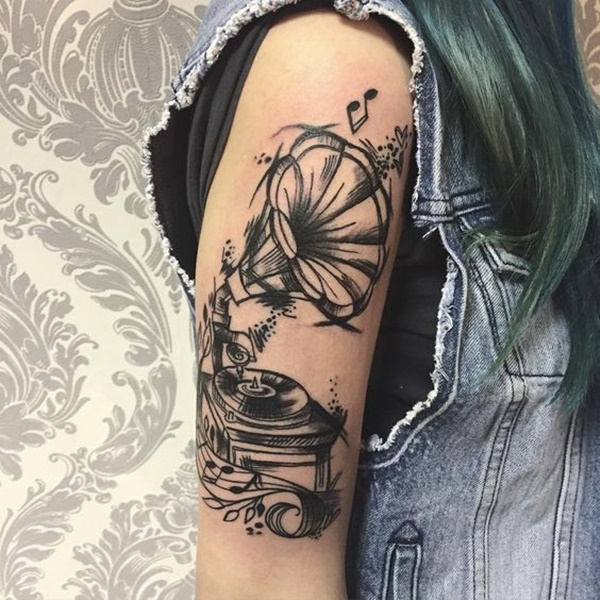 22 Music Tattoo Designs Ideas: 50 Awesome Music Tattoo Designs To Show Off Your Love Of