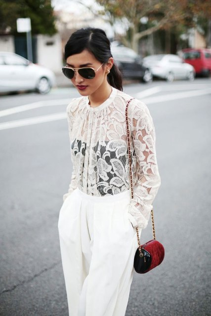 69a1bf0969d 40 Stylish Ways To Wear Sheer Shirts » EcstasyCoffee