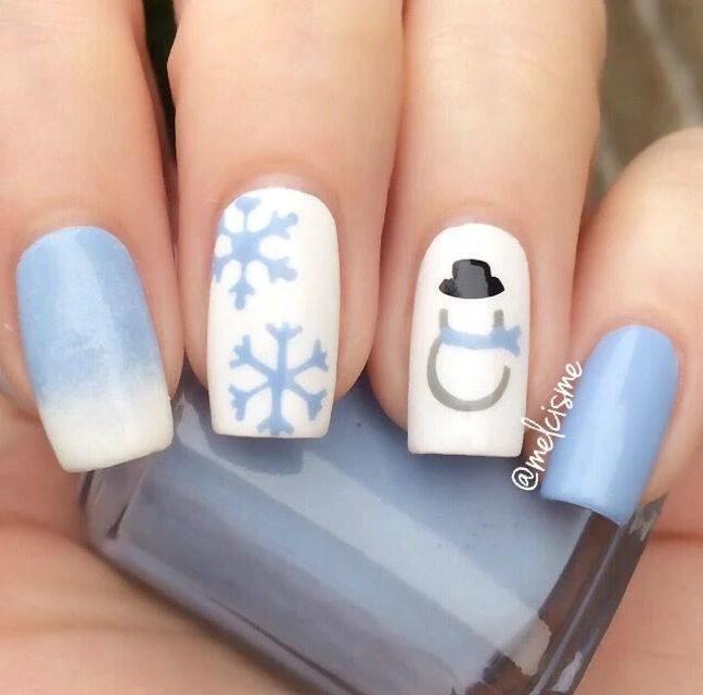 30 Amazing Rhinestone Nail Art Designs Ecstasycoffee: 50+ Latest Winter Inspired Nail Art Ideas » EcstasyCoffee